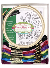 "Easy Embroidery Kit – ""Charm of Hummingbirds"" THUMBNAIL"
