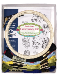 "Easy Embroidery Kit – ""Lovely Ladybugs"" THUMBNAIL"