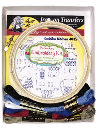 "Easy Embroidery Kit – ""Sashiko Kitchen"" THUMBNAIL"