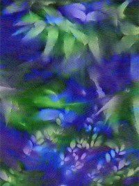 "Batik Textiles ""Bali SunPrints"" # 0616 – Leaf Print on Jewel Tones THUMBNAIL"