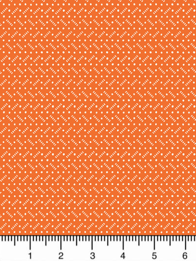 "Andover ""Darling Clementine"" # A-9484-O - Tiny White Texture on Orange MAIN"