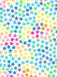 "Windham Fabrics ""Cubby Bear Flannel"" # 52383-1 – Colorful Stars on White THUMBNAIL"