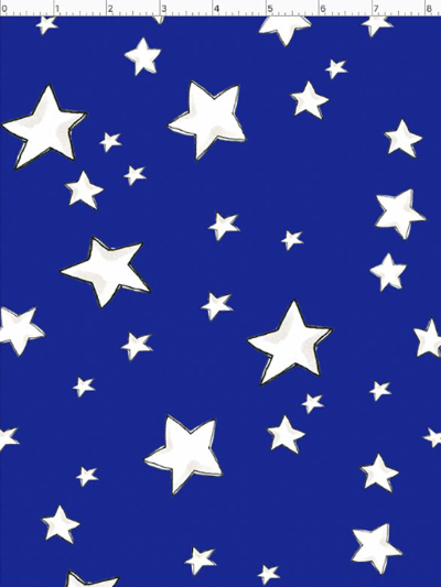 "Loralie Designs ""US"" # 692-397 - White Stars on Blue MAIN"