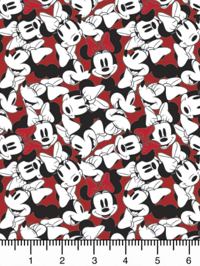 "Camelot Fabrics ""Disney Minnie Mouse"" # 85271010-02 – Minnie Mouse Tossed Stack MAIN"