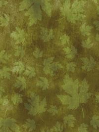 "In The Beginning Fabrics ""Our Autumn Friends"" # 7OAF-2 – Green Autumn Leaves THUMBNAIL"