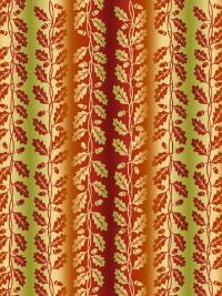 "In The Beginning Fabrics ""Our Autumn Friends"" # 4OAF-1 – Small Autumn Leaf Stripe THUMBNAIL"