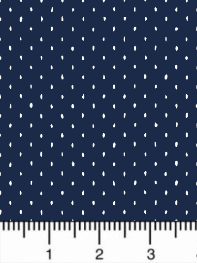 "Cotton+Steel Fabrics ""Cotton+Steel Basics – Stitch and Repeat"" CS101-SA8 – White Dots on Dark Blue MAIN"