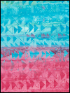 "Timeless Treasures Batik ""Tonga Vivid"" # Tonga-B6866-Vivid - Colorful Fast Forward Stripes SWATCH"