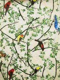 "Wilmington Prints ""Nature's Song"" #38521 col. 179 - Birds on Branches THUMBNAIL"