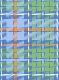 "Marcus Fabrics ""Primo Plaid Flannel"" #R09-U054-0150 - Blue, Green and Orange Plaid Flannel THUMBNAIL"