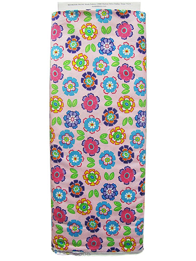 "Moda ""Ticklish"" #22192 col. 21 - Bright Flowers on Pink MAIN"