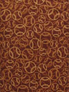 "Robert Kaufman ""Sports Life"" #AKQ11539-16 Brown - Baseballs on Brown SWATCH"
