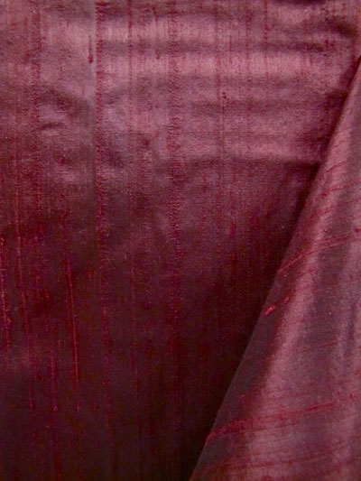 Burgundy Dupioni Silk Fabric MAIN