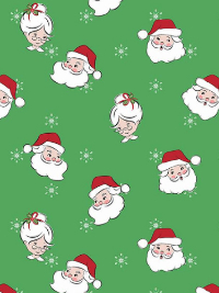 "Riley Blake Designs ""Santa Claus Lane"" C9610 - Green THUMBNAIL"