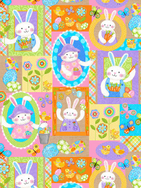 "Studio E ""Carrot Patch"" # 4460-44 - Carrot Patch Bunnies THUMBNAIL"