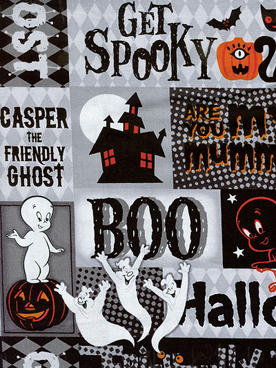 "Quilting Treasures ""Creepy Cute"" # 1649-23946-J Lot # 5512 - Casper Collage MAIN"