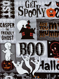 "Quilting Treasures ""Creepy Cute"" # 1649-23946-J Lot # 5512 - Casper Collage THUMBNAIL"