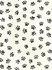 "Northcott ""You Had Me At Meow"" # 22164-11-Cream - Paw Prints THUMBNAIL"