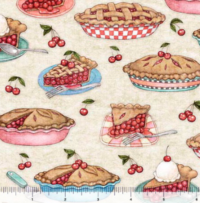 "QT Fabrics ""Home Sweet Home"" # 1649-26328-E - Cherry Pies MAIN"