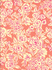 "Ink & Arrow Fabrics ""Zola"" # 26143-C – Coral Etched Floral THUMBNAIL"