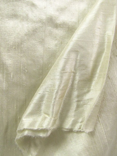 Cream Dupioni Silk Fabric MAIN