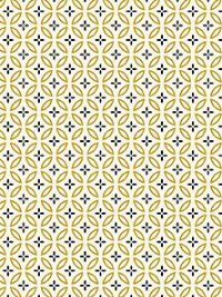 "Kanvas Studios ""New Traditions"" # 8639M col. 07 - Black and Gold Geometric Print on Cream THUMBNAIL"