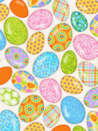 "Studio E ""Carrot Patch"" # 4463-40 - Easter Eggs on Cream THUMBNAIL"