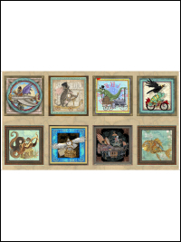 "QT Fabrics ""Fantasy & Fiction"" # 1649-27550-X-Multi – Steampunk Panel THUMBNAIL"