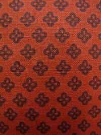 "Exclusively Quilters ""Night Owls"" #3804-60144 col. 73 - Flower Outline on Rust THUMBNAIL"