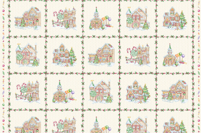 "Maywood Studio ""Gingerbread Christmas"" # MA58141-E – Gingerbread Christmas Panel MAIN"
