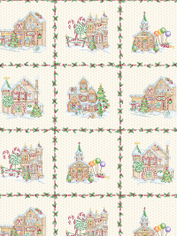 "Maywood Studio ""Gingerbread Christmas"" # MA58141-E – Gingerbread Christmas Panel THUMBNAIL"