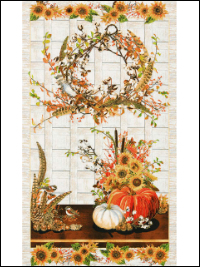 "Robert Kaufman ""Shades of the Season 2"" # 17449-196 - Harvest Panel - PRICED PER PANEL THUMBNAIL"
