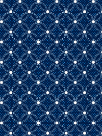 "QT Fabrics ""Danbury"" # 1649-27648-N – Navy and White Lattice Geo THUMBNAIL"