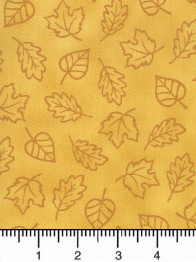 "Moda ""Thankful"" by Deb Strain #19903-12 col. Gold - Leaves on Gold MAIN"