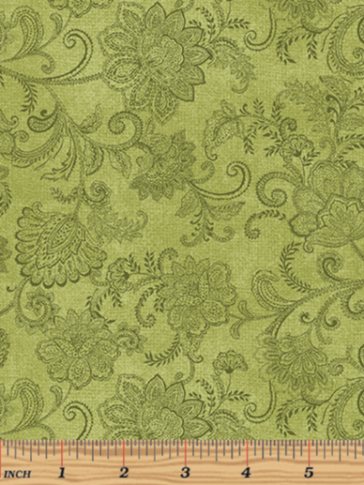 "Benartex ""Accent On Sunflowers"" 10216-42 – Livingston Medium Green MAIN"
