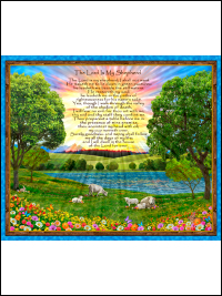 "QT Fabrics ""The Lord is My Shepherd # 1649-27445-X - The Lord is My Shepherd Panel THUMBNAIL"