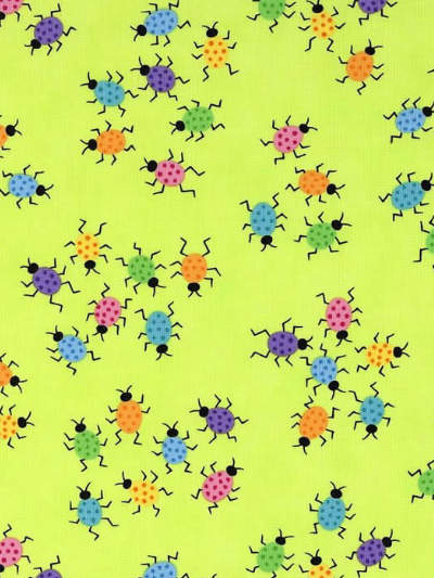 "Moda ""Me and My Sister Designs"" # 22315-12 - Ladybugs on Lime Green MAIN"