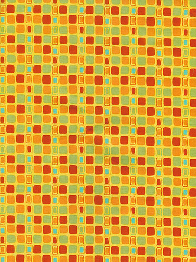 "Moda ""Block Party"" #17815 col. 17 - Yellow with Multicolored Squares MAIN"