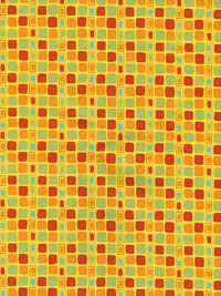 "Moda ""Block Party"" #17815 col. 17 - Yellow with Multicolored Squares THUMBNAIL"