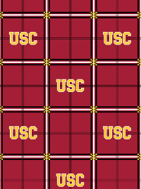 "Sykel Enterprises ""NCAA Southern California"" # 023 – USC Red Plaid Flannel THUMBNAIL"