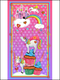"QT Fabrics ""Party Like a Unicorn"" # 1649-26909-P – Party Like a Unicorn Panel THUMBNAIL"