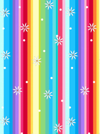 "QT Fabrics ""Party Like a Unicorn"" # 1649-26915-X – Rainbow Stripes THUMBNAIL"