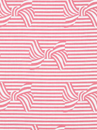 "Michael Miller ""Bows and Stripes"" # DC8414-Cora-D - Pink and White Striped Bows THUMBNAIL"
