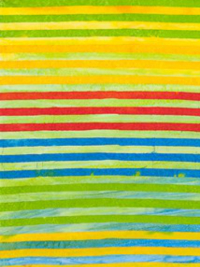 "Robert Kaufman ""Elementals"" Batik # AMD-7393-203-Celebration — Colorful Stripes THUMBNAIL"
