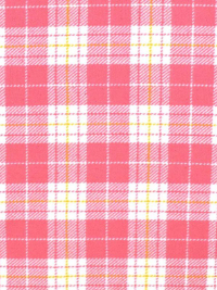 "Marcus Fabrics ""Primo Plaid Flannel"" # R09U091-0126 – Pink, White and Yellow Plaid THUMBNAIL"