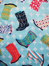 "Quilting Treasures ""Let It Rain"" #1649-22657 Q - Rain Boots SWATCH"