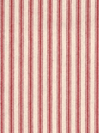 "James Thompson ""Striped Ticking"" — Red and Cream Cotton Woven (Canvas Weight) THUMBNAIL"