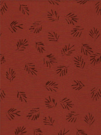 "Batik Textiles ""Simply Primitive"" # 0835 - Leaves on Rust THUMBNAIL"
