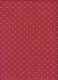 "Andover Fabrics ""Little Sweethearts"" #5926 col. R — Red with Tiny White Heart Flowers THUMBNAIL"