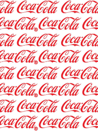 "Sykel Enterprises ""Coca Cola Cotton"" # 10051-01-White - Red Coca Cola Logo on White THUMBNAIL"